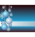 Blue Christmas card vector image vector image
