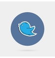 Blue doddle bird vector image