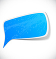 Blue grunge speech label design vector image vector image