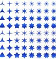 Blue star symbol set vector image vector image