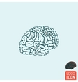 Brain icon isolated vector image vector image