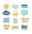 bundle of spring lettering or inscriptions written vector image vector image