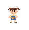 cartoon character of a serious girl vector image vector image