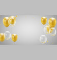 celebration banner with gold balloons background vector image