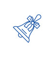 christmas bell line icon concept christmas bell vector image