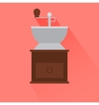 Coffee grinder icon with shadow vector image