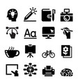 designer icon set vector image