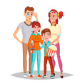 family in cinema movie isolated vector image vector image