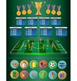 Football Soccer Match Statistics vector image vector image