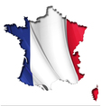 French Map Flag vector image vector image