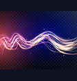 futuristic waves in speed motion blue and violet vector image vector image