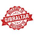 gibraltar round ribbon seal vector image vector image