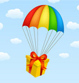 gifts on parachutes vector image vector image