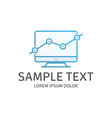 growth logo template vector image vector image