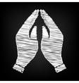 Hand icon Prayer symbol vector image vector image