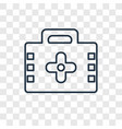 hospital concept linear icon isolated on vector image