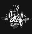 i love surfboard shirt print vector image
