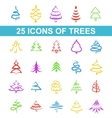 Icons tree vector image vector image