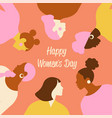 international women s day templates with vector image vector image