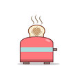 Isolated cartoon making love with toaster vector image vector image