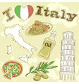 italy travel grunge card vector image vector image