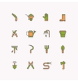 linear icons garden tools vector image