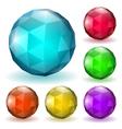 Low polygonal spheres vector image vector image