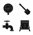manometer sapper shovel and other web icon in vector image vector image