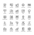 maps and navigations line icons set vector image