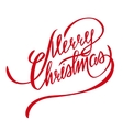 Merry Christmas Lettering - Design Element vector image vector image