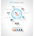 Modern Infographic template with Flat UI style vector image vector image