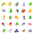 natural stamina icons set isometric style vector image vector image