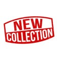 new collection sign or stamp vector image