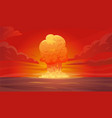 nuclear explosion composition vector image