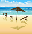 on beach vector image vector image