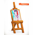 paint easel 3d icon vector image vector image
