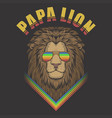 papa lion vector image vector image