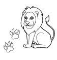 paw print with Lions Coloring Pages vector image vector image
