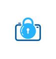 photography security logo icon design vector image vector image