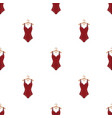 plaid swimsuit in red and underwear for swimming vector image vector image