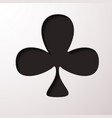 playing card club suit flat icon for apps and vector image vector image