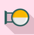 round city light box icon flat style vector image vector image