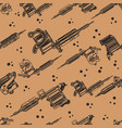 seamless pattern with tattoo machines design vector image vector image