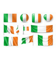 set ireland flags banners banners symbols flat vector image vector image