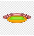 small sports stadium icon cartoon style vector image vector image