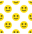 smile face seamless pattern vector image vector image
