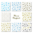 snowflake patterns collection or seamless snow vector image
