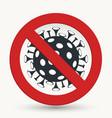 stop virus microbe allergy bacteria pathogen vector image
