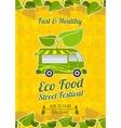 Street food festival vintage poster vector image vector image