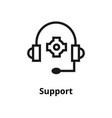 support line icon vector image
